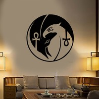 Vinyl Wall Decal Egyptian Gods Anubis Horus Amulet Ankh Stickers (2217ig)