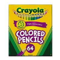 Crayola Products - Crayola - Colored Woodcase Pencil, HB, 3.3 mm, Assorted, 64/Pack - Sold As 1 Set - Thick, soft leads. - Perfect for color mixing and blending. - Practice detailed techniques. - Built-in sharpener. -