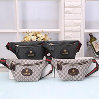 GG Classic Fashion Zipper Large Capacity Waist Bag Mobile Phone Bag Coin Purse