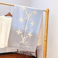 LV gradient cashmere shawl long scarf