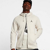 NIKE Jordan SPORTSWEAR FLIGHT TECH Black White Men Jacket B-A-BM-YSHY