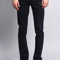 Men's Skinny Fit Colored Jeans (Navy)