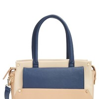 Sole Society Colorblock Faux Leather Satchel