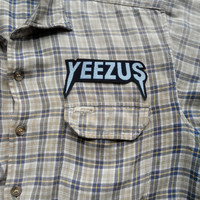 Pair of Yeezus Patch and Giant Back Patch , Fabric Print , nice for rework vintage jacket or flannel shirt