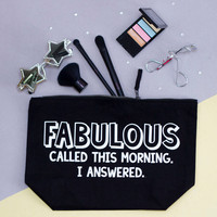 Fabulous Funny Wash Bag Gift for Traveller Gifts by SquiffyPrint