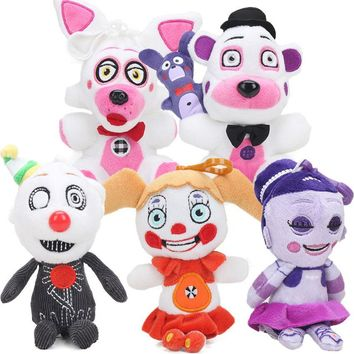 10pcs 15cm  At  Figure Keychain Sister Location Funtime Foxy Freddy Fazbear  Collectible Plush Dolls Toys