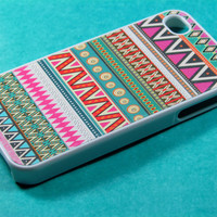 Pink Aztec Iphone 4 Case Iphone Case Iphone 4s Case by DzinerCases