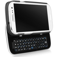 BoxWave Samsung Galaxy S3 Keyboard Buddy Case - Backlit Edition - Protective Shell Case with Integrated Slide-Out Wireless Bluetooth QWERTY Keyboard and Backlit Keys for a Faster, More Accurate Typing and Texting Experience! (Jet Black)
