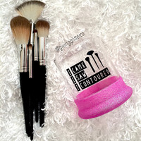 I Came I Saw I Contoured // Glitter Dipped Make Up Brush Holder