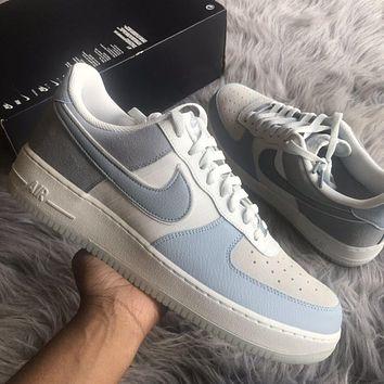 """Nike Air Force 1 Low 07 """"Light Armory Blue"""" low-top flat sneakers shoes"""