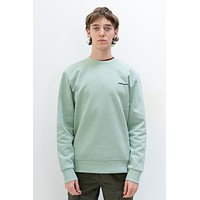 Script Embroidery Sweat in Frosted Green
