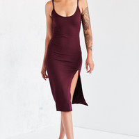 Silence + Noise Thigh-Slit Midi Slip Dress | Urban Outfitters