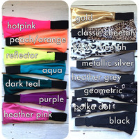 Bright Purple Workout Style Yoga Perfect Fit NonSlip Runner's Stretch Crossfit Headband Headwrap