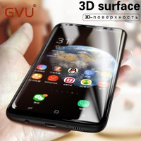 GVU 3D Curved Full Tempered Glass For Samsung Galaxy S8 S8 Plus Screen Protector Film Cover Explosion-Proof For Samsung S8 Glass