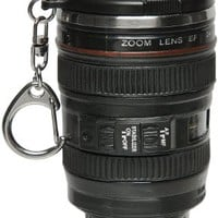 Camera Lens Mug Keychain. Mini Replica of 24-105 Canon Zoom Lens 1:4. Stainless Steel Inside. By Lily's Home®