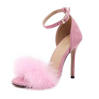 Stiletto Feather High Heels - 3 colors