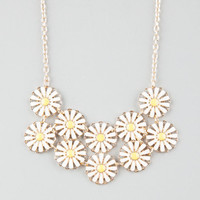 Full Tilt Daisy Statement Necklace Gold One Size For Women 25577562101