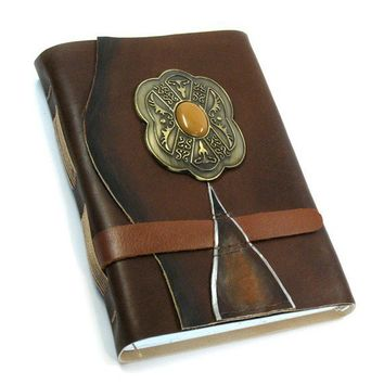 SALE Royal Jewel Leather Journal by artreasury on Etsy