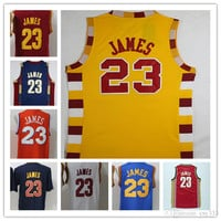 Hottest 23 LeBron James Basketball Jerseys Men St. Vincent Mary LeBron James High School Irish,Movie TUNESQUAD Throwback Free Shipping