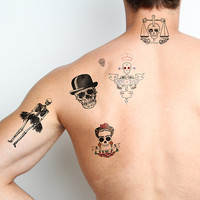 Skulls - Temporary Tattoos (Set of 6)