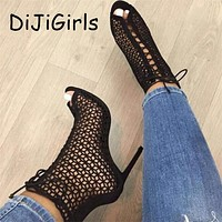 Summer Gladiator High Heel Open Toe Boots