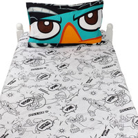 Perry Platypus Bed Sheet Set Agent P Never Flinch Bedding