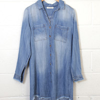 Fitzroy Button Up Denim Dress