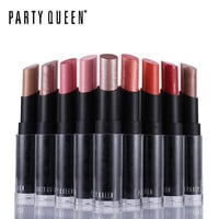 Party Queen A Pure Creamy Lipstick Pop Glitter Rose Gold Fruity Lipstick Makeup For Bold Color Velvet Moisturizing Charmed Lips