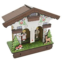 German Black Forest Themed Barometer Thermometer Weather House