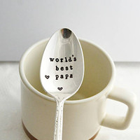 world's best papa, teaspoon-silver plated- father's day gift- gift for grandpa, father's day gift idea.