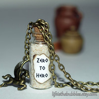 Hercules Zero to Hero Magical Necklace with a Pegasus Charm, Disney Inspired, by Life is the Bubbles
