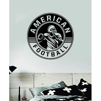 American Football Wall Decal Sticker Vinyl Art Bedroom Room Home Decor Quote Ball Kids Teen Baby Boy Girl Nursery School Fitness Inspirational Touchdown