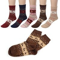 2017 Brand  Luck dog Cute Christmas Deer Design Casual Knit Wool Socks Warm Winter Mens Women J517