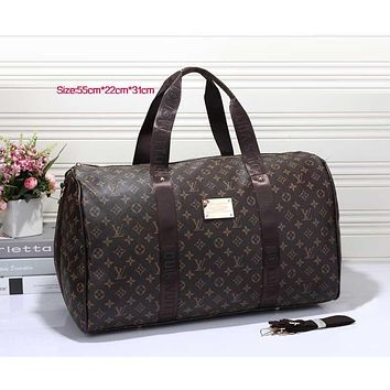 Louis Vuitton LV Women Leather Multicolor Luggage Travel Bags Tote Handbag-1