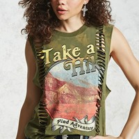 Take A Hike Graphic Muscle Tee