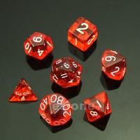 Red Sided Die D4 D6 D8 D10 D12 D20 MTG RPG D&D DND Poly Dices Board Game Chess