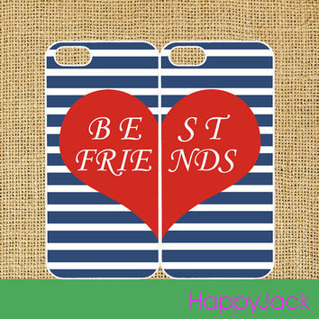 best friends 2pcs - iPhone 4 case , iphone 5 case , ipod case, ipod touch case, samsung galaxy S3 case, galaxy note 2 case in black or white