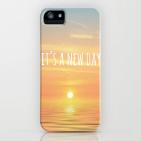 It's A New Day iPhone Case by Ally Coxon | Society6