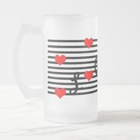 Frosted 16 oz Frosted Glass Romantic Mug