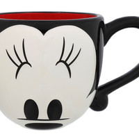 disney parks signature eyes minnie mouse ceramic coffee mug new