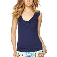 Lindley Ruffled V-Neck Top - Lilly Pulitzer