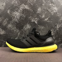 Adidas Ultra Boost Ub 4.0 Rainbow Sole Pack - Yellow Running Shoes - Best Online Sale