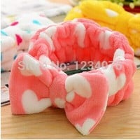 free shing Lovely big bow headband hair band makeup wash your face velvet hair band movement bundle-in Shower Caps from Home & Garden on Aliexpress.com | Alibaba Group