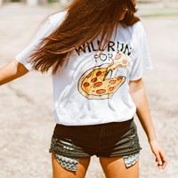 Will Run For Pizza Shirt