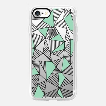 Abstraction Lines Mint Blocks Transparent iPhone 7 Case by Project M | Casetify