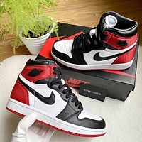 "Nike Air Jordan 1 High-Top ""Black Toe"" Sneakers Shoes"