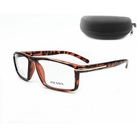 Perfect Prada Women Edgy Optical Clear Lens Fashion Brand Designer Eyeglasses Glasses