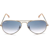 Sunglasses Ray Ban Aviator RB3025 001/3F Size 58-14 mm Gold Frame Blue Lens Set