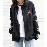 JORDAN Fashion Women Men Casual Cardigan Sweatshirt Jacket Coat Windbreaker Sportswear