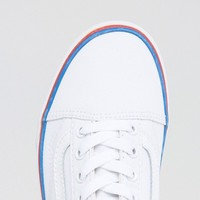 Vans Classic Leather Old Skool Sneakers With Rainbow Trim at asos.com
